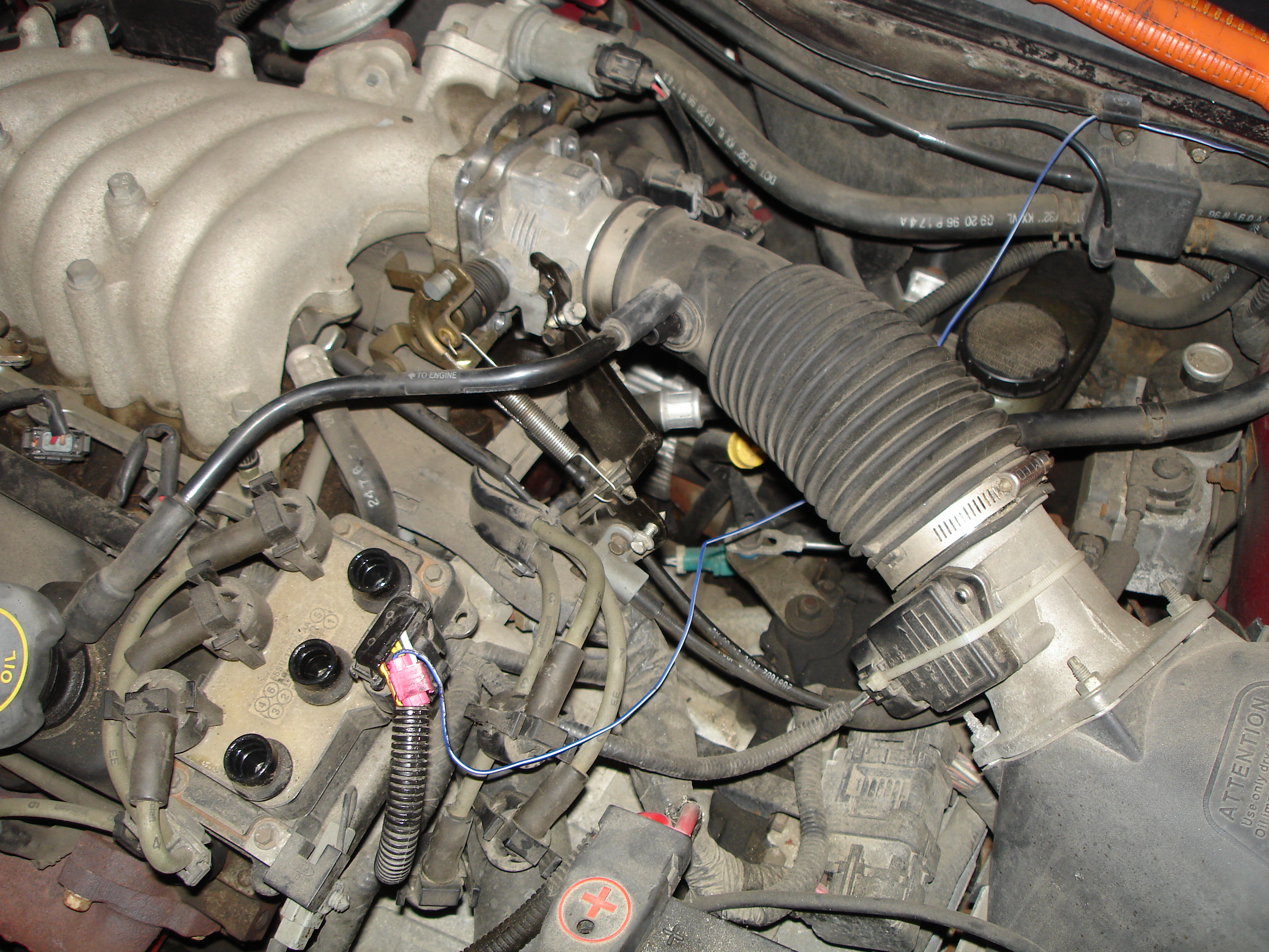 Replace A Camshaft Position Sensor 1997 Ford Taurus F150 Engine Diagram Step Two Clear The Path