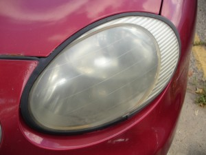 Ford Taurus Hazy Headlight before Repair